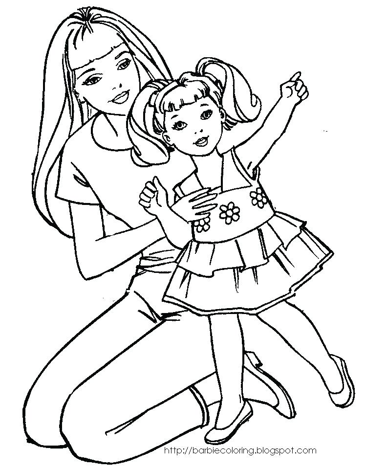 747x963 Barbie Coloring Pages Free Barbie Coloring Or Printable Coloring