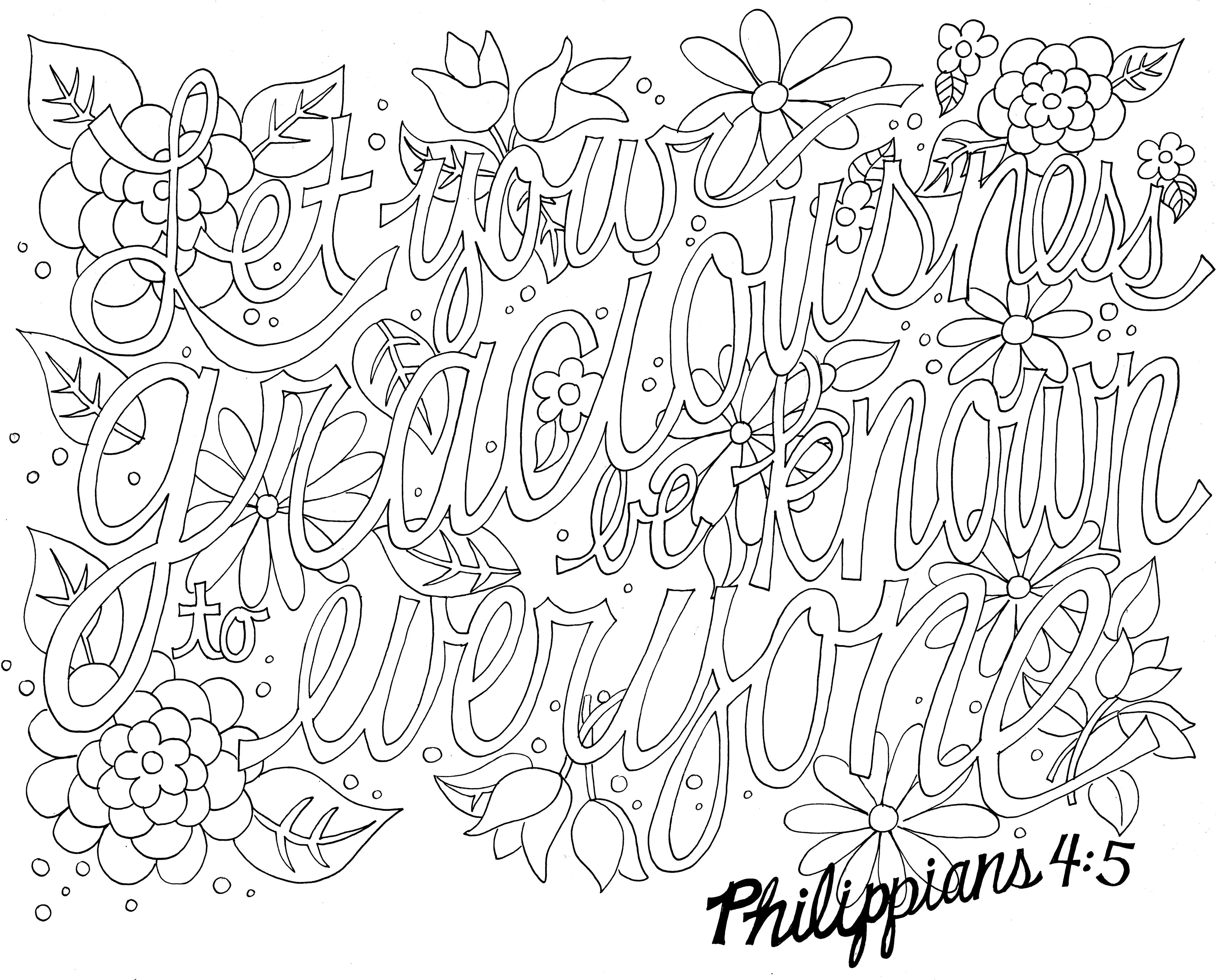 Free Bible Verse Coloring Pages At Getdrawings Free Download