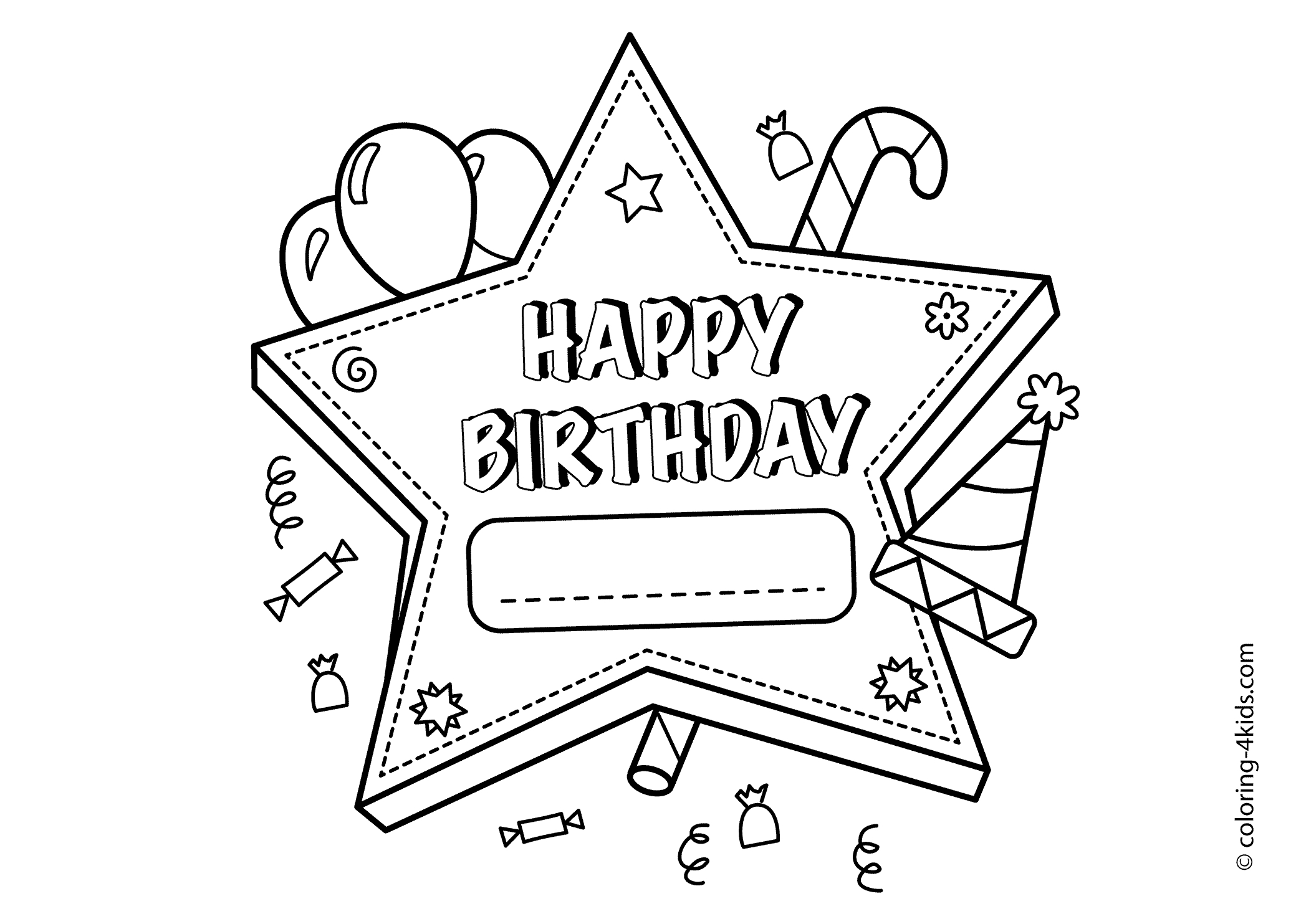 Free Birthday Coloring Pages