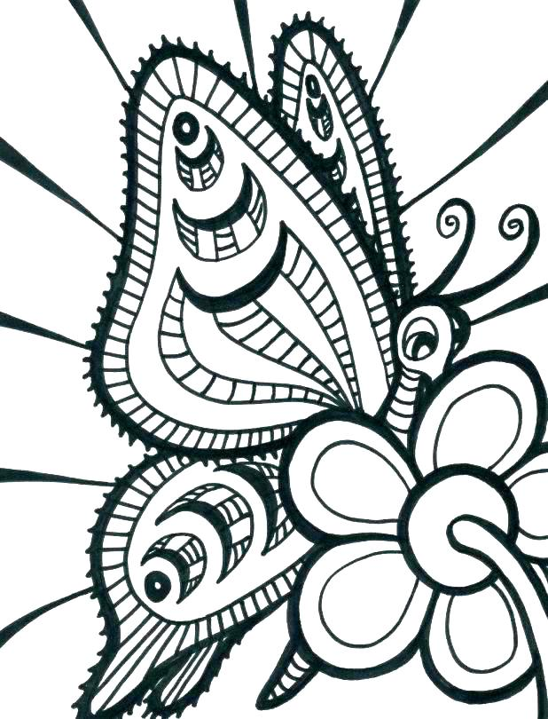 618x810 E Swallowtail Butterfly Coloring Page Free Butterfly Butterfly