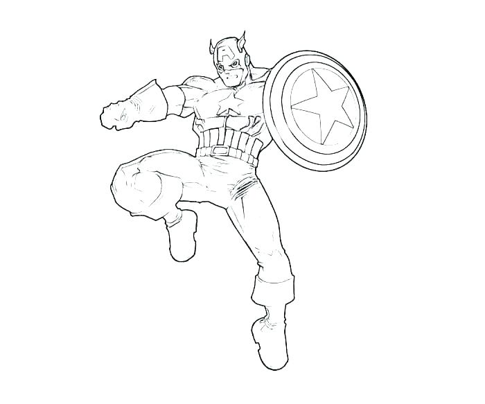 Free Captain America Coloring Pages at GetDrawings.com ...