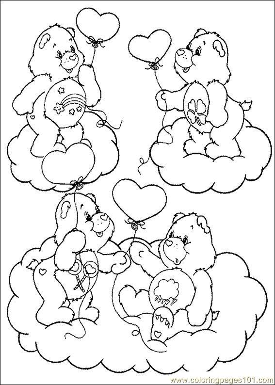 567x794 Care Bears Coloring Page