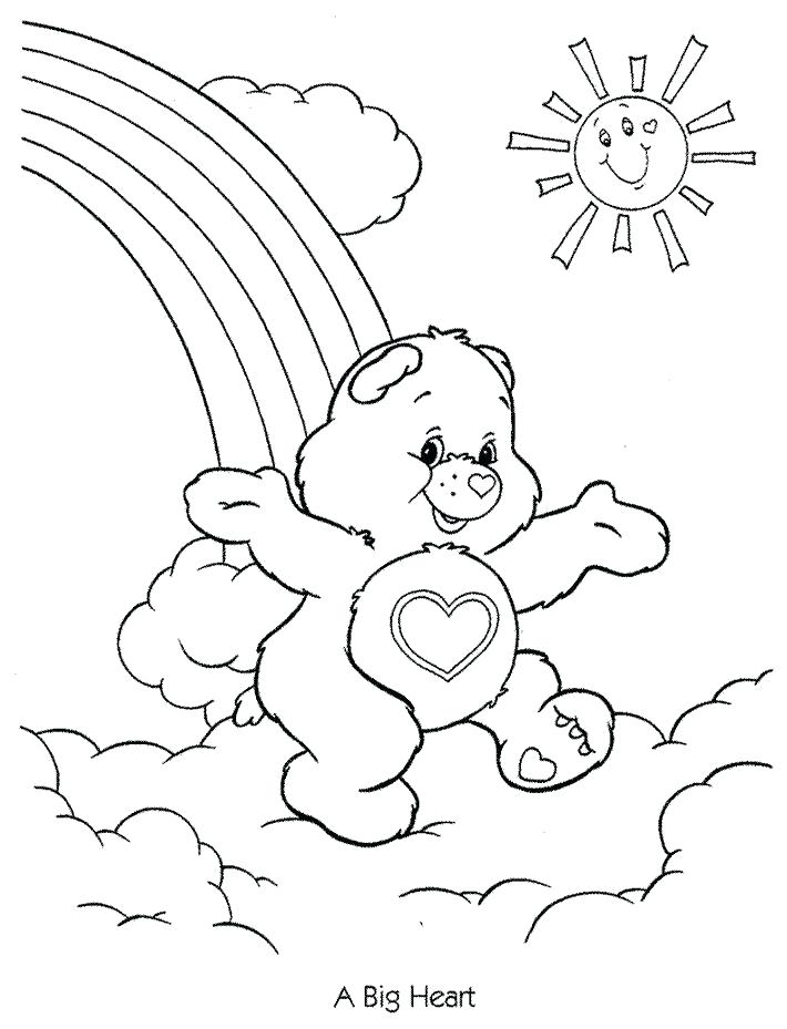 710x929 Care Bears Coloring Books Also Baby Bear Coloring Pages Care Bears