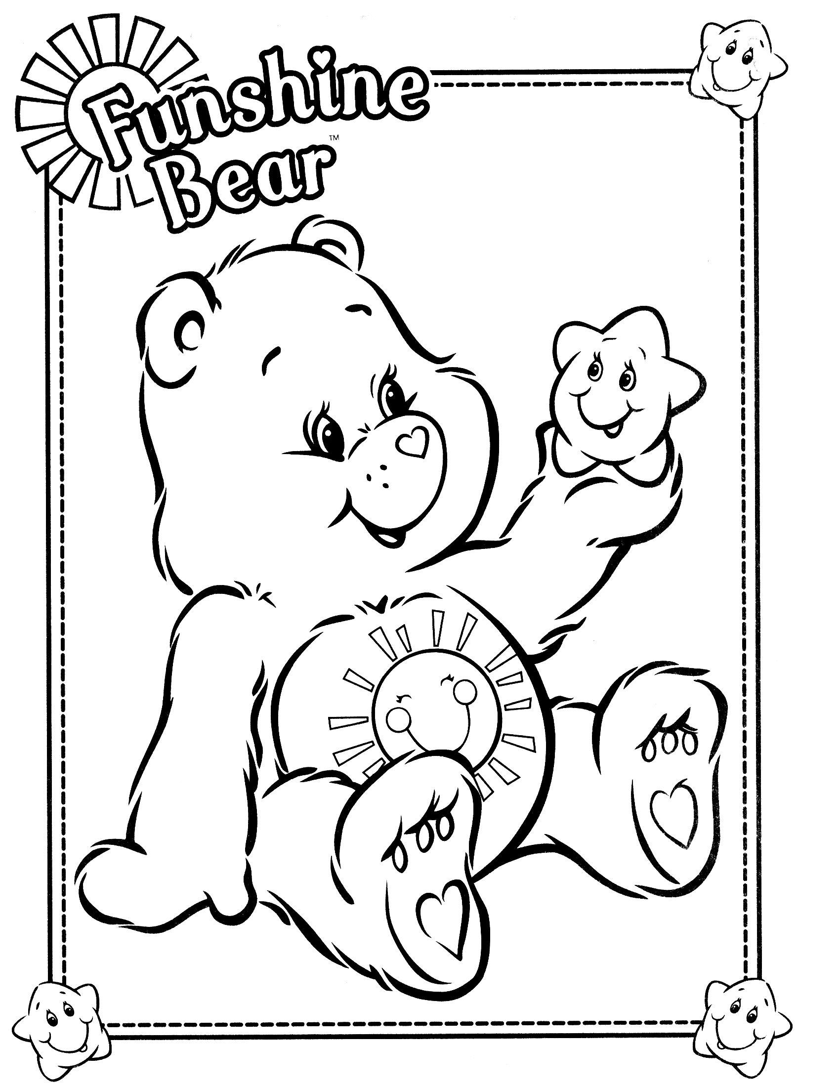 1700x2200 Care Bears Coloring Page Free