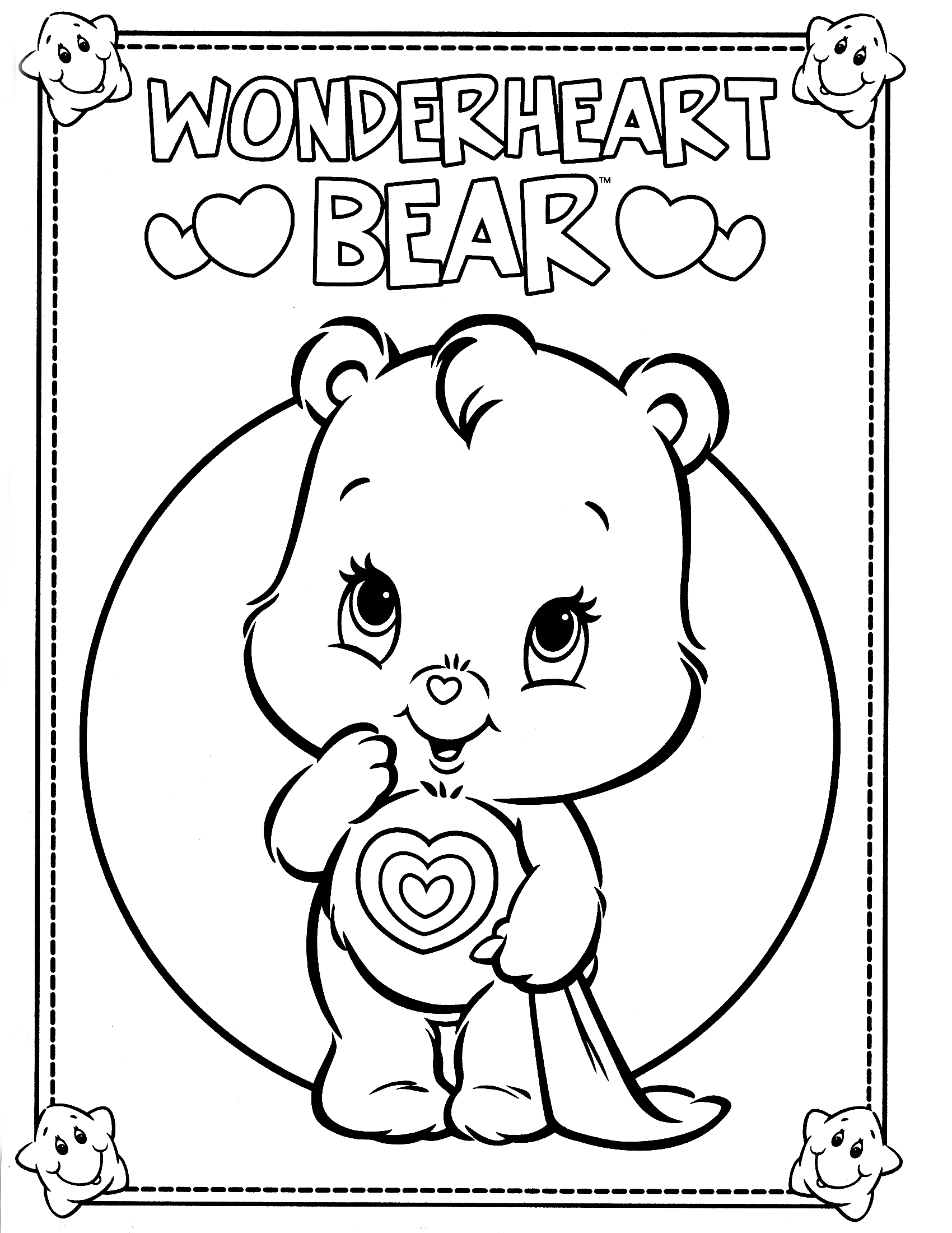 1700x2200 Care Bears Coloring Pages Printable Printable Coloring Page New