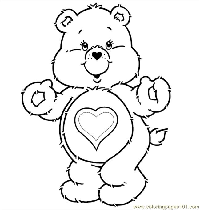 650x680 Care Bears T Coloring Page