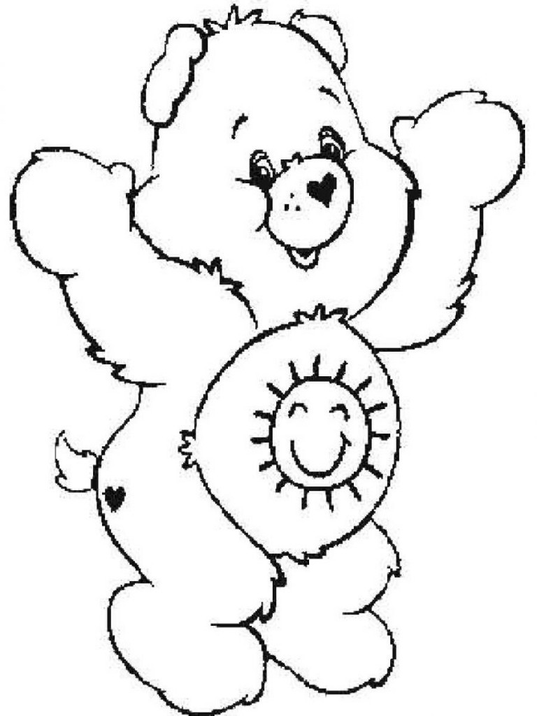 768x1024 Free Printable Care Bear Coloring Pages For Kids Bears Stuning