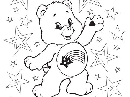 440x327 Happy Of July! Free Care Bears Patriotic Printable Coloring