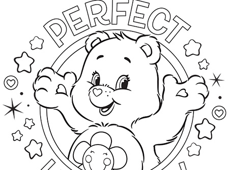 450x334 Perfect Harmony Care Bears Coloring Page Ag Kidzone