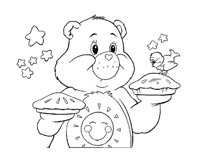 700x532 Free Happy Care Bear Coloring Pages
