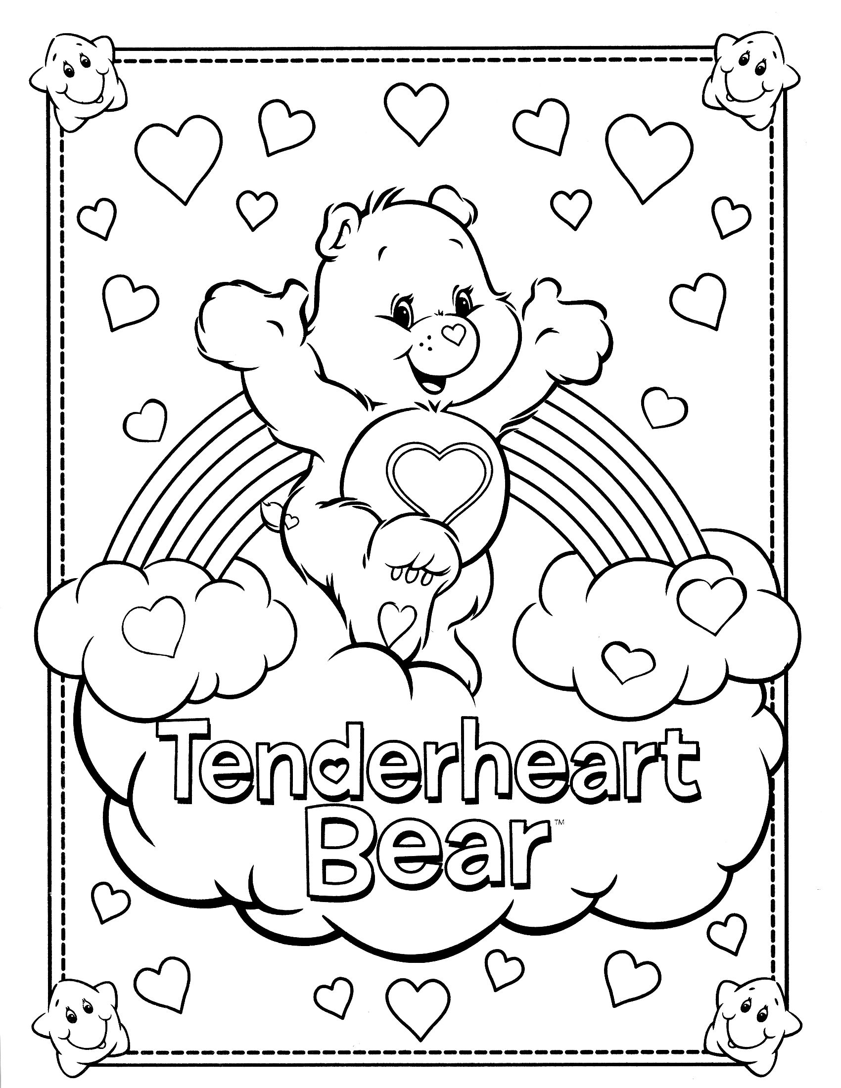 1700x2200 Best Care Bear Coloring Pages