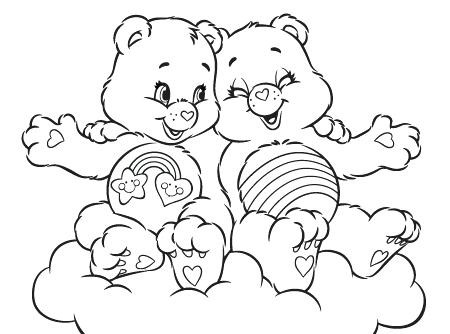 450x334 Care Bear Coloring Pages Bears Activity Cheer And Best Friend Free