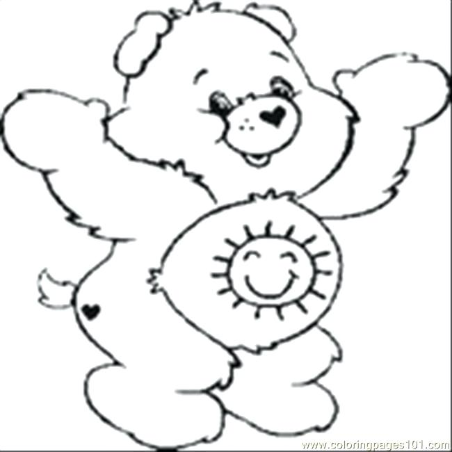 650x650 Care Bear Colouring Pages To Print Baby Care Bear Coloring Pages