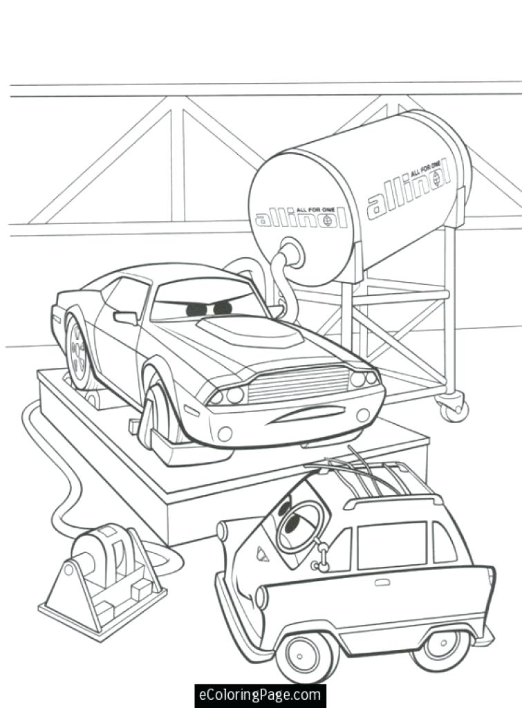 755x1024 Cars Printable Coloring Pages Cars Professor Z And Rod Cars