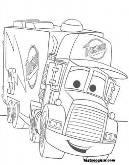 264x338 Free For Kids Mack Car Coloring Pages Disney