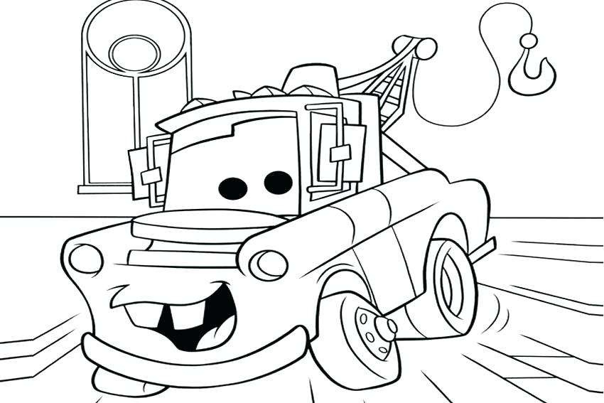 850x567 New Cars Coloring Pages Lightning Mcqueen And Cars Printable