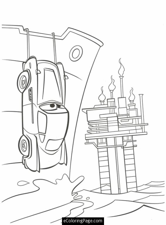 565x768 Cars Printable Coloring Pages Cars Finn Mcmissile Hiding