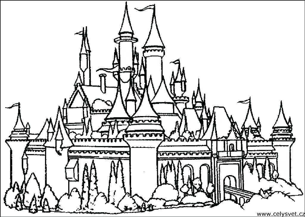 Free Castle Coloring Pages At Getdrawings Free Download
