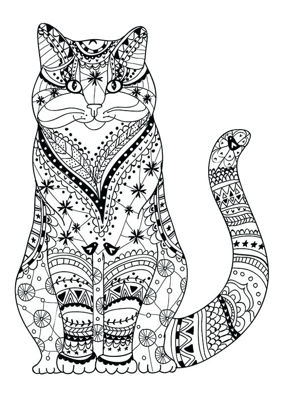 564x786 Cat Coloring Pages For Adults Cat Coloring Pages For Adults