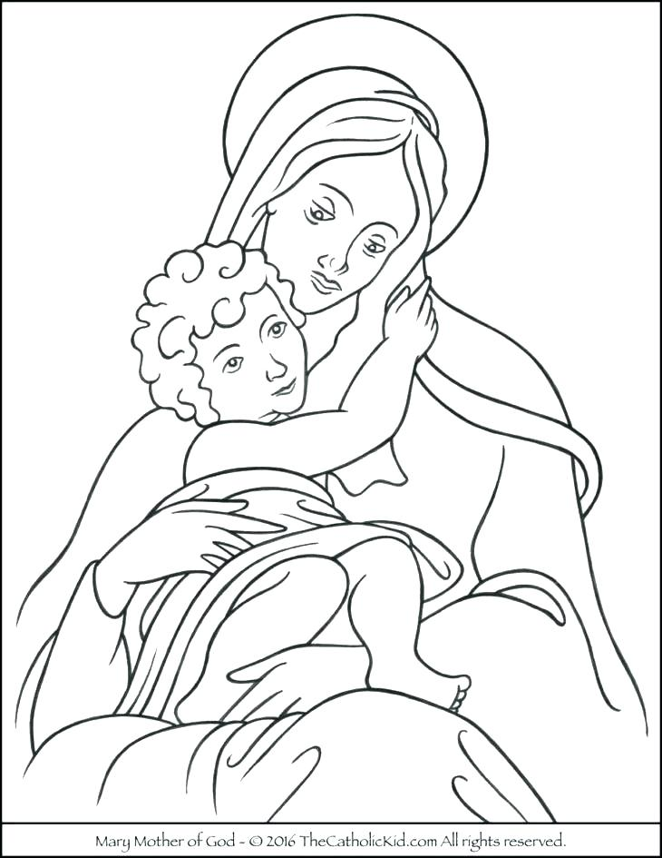 730x945 Free Catholic Rosary Coloring Pages Printable Coloring Rosary