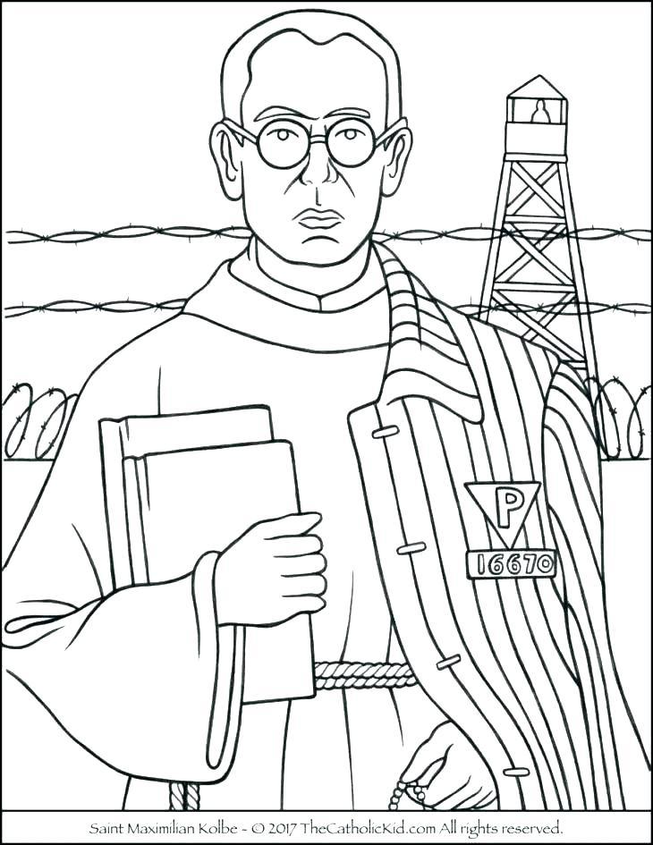 730x945 Saint Coloring Pages Catholic Saints Coloring Pages Catholic