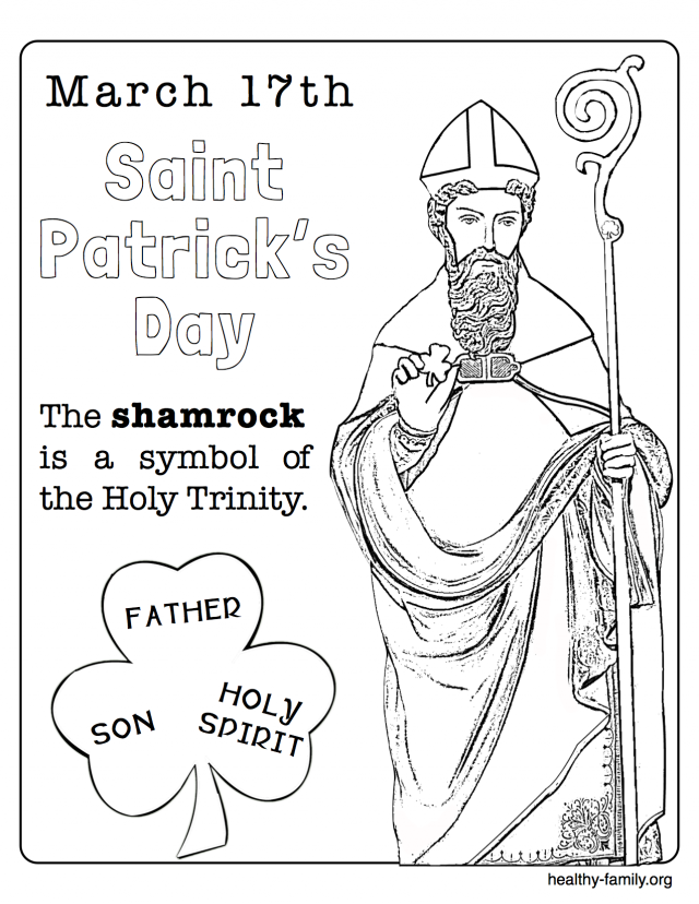 640x828 St Patrick Coloring Pictures Coloring Pages