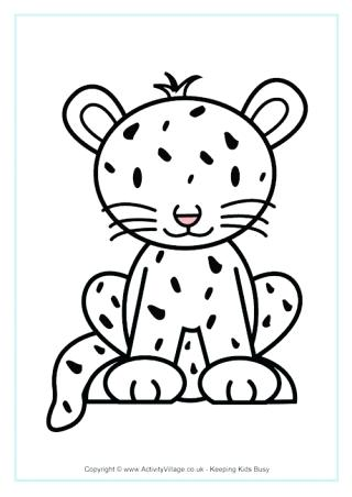 320x452 African Animal Coloring Pages Cheetah Colouring Page Free African
