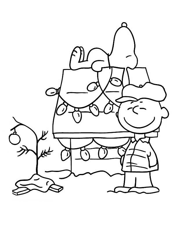 600x776 Peanuts Christmas Coloring Pages Free Printable Charlie Brown