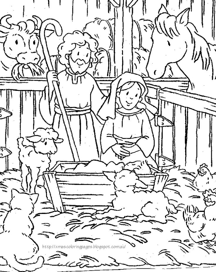 736x928 Christmas Coloring Pages Religious Printable