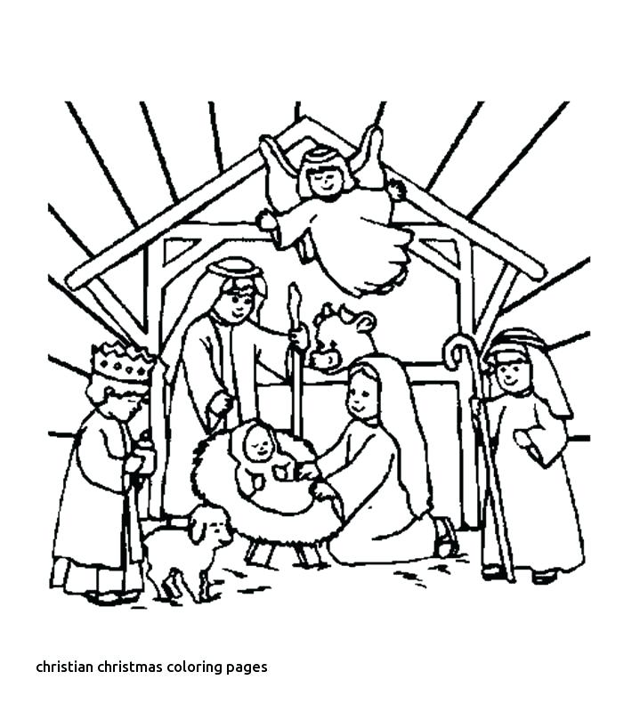 719x800 Christian Christmas Colouring Pages Printable Free Merry Coloring