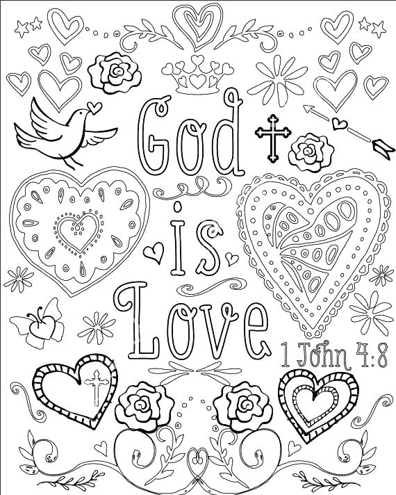 570x712 Christian Coloring Pages Free Christian Coloring Pages Bible