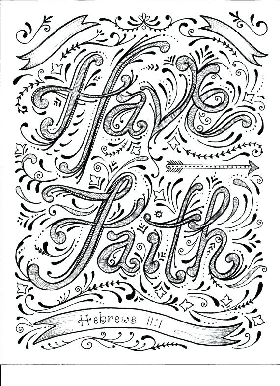 570x784 Christian Coloring Pages For Adults