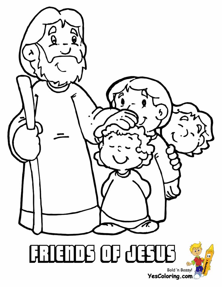 Free Christian Coloring Pages For Preschoolers