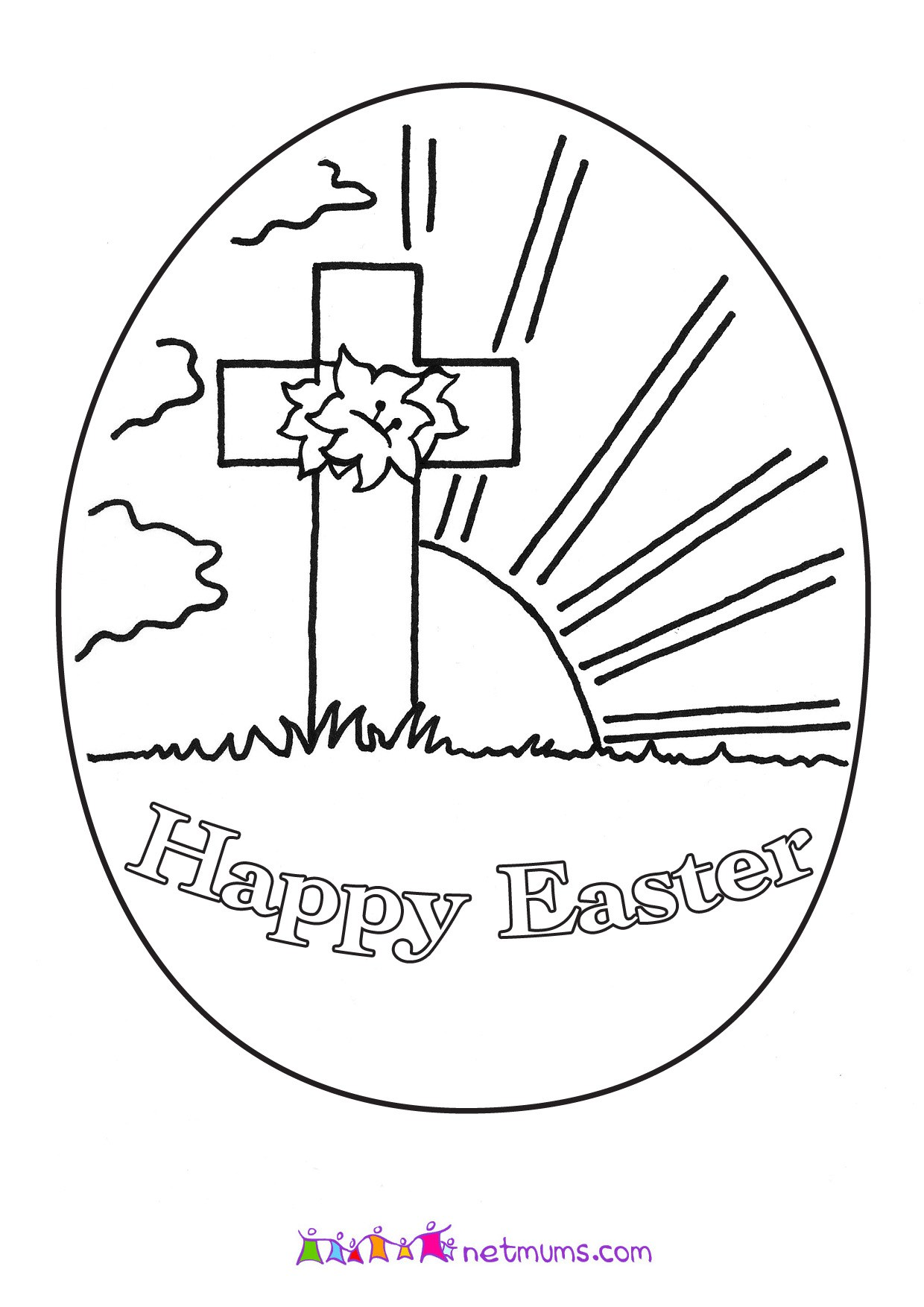 photo about Free Printable Easter Cards Religious known as Free of charge Christian Easter Coloring Internet pages at