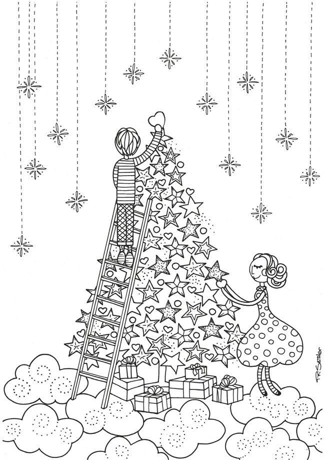 650x919 Christmas Coloring Pages For Adults Free Christmas Printable