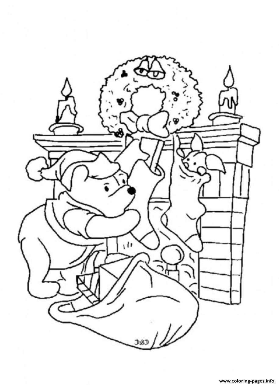 915x1260 Winnie The Pooh Christmas Coloring Pages Preschool For Sweet Draw