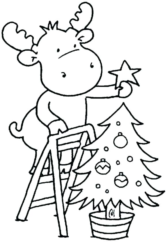 580x840 Free Christmas Coloring Pages For Preschoolers Grandmaman Site