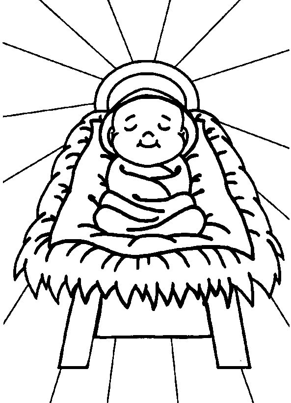 593x819 Christmas Coloring Pages Of Baby Jesus Online Free Printable Jesus