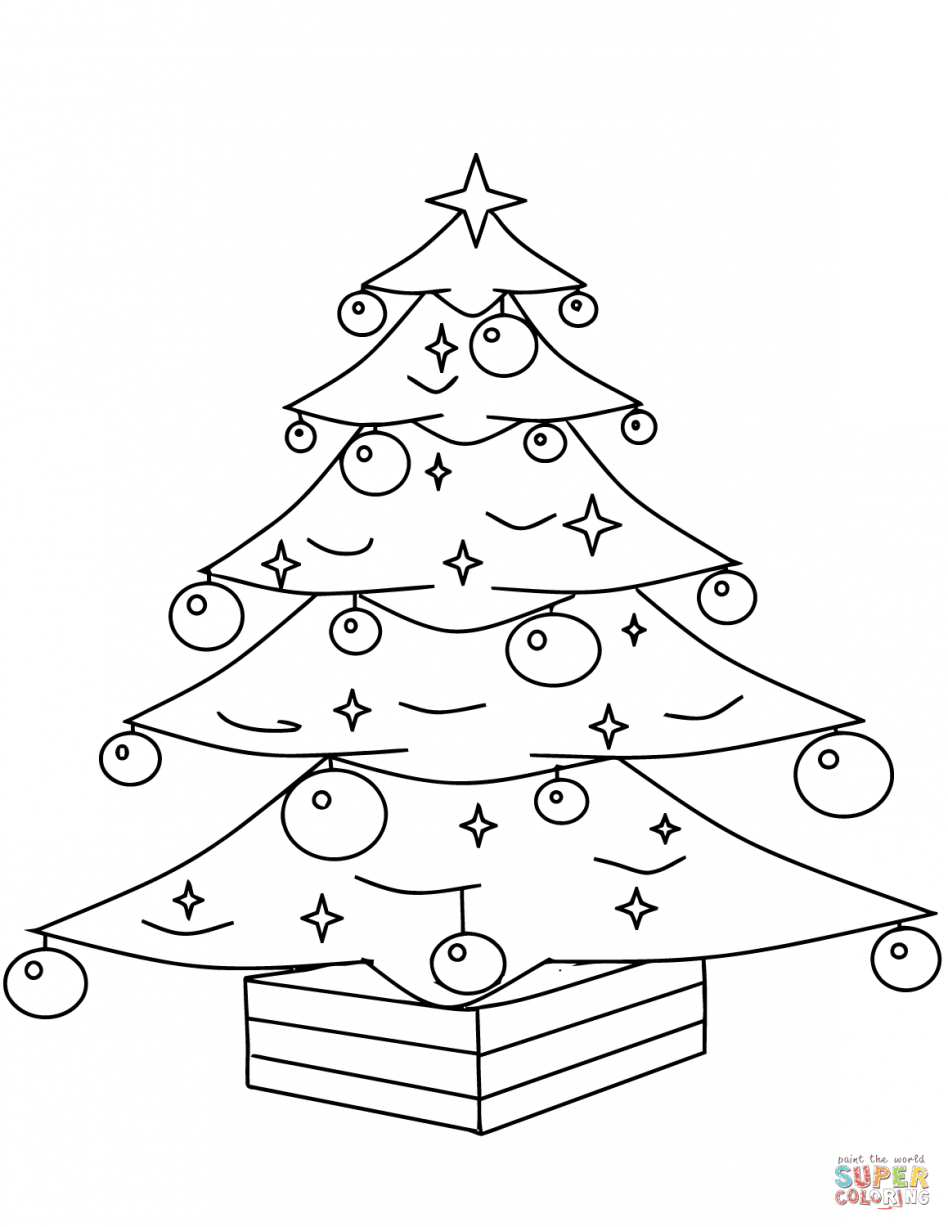 948x1227 Christmas Ornaments Coloring Pages Awesome Tree With Page Free