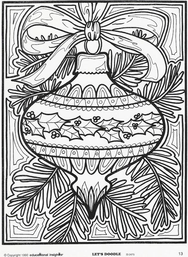 650x889 Free Christmas Coloring Pages For Adults