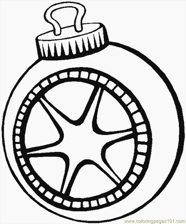 650x781 Free Christmas Ornament Coloring Pages For Kids Color Bros