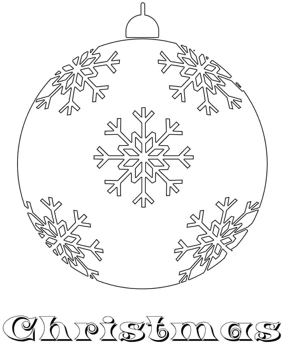 1209x1467 Free Christmas Ornament Coloring Sheets For Kids Girls