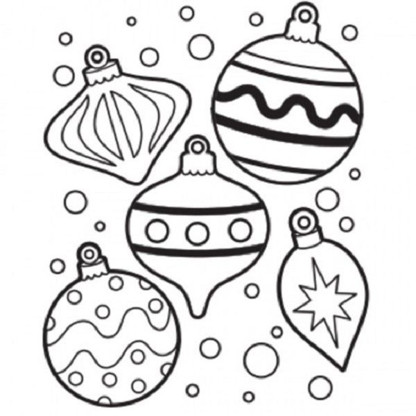600x600 Free Christmas Ornaments Coloring Pages Printables