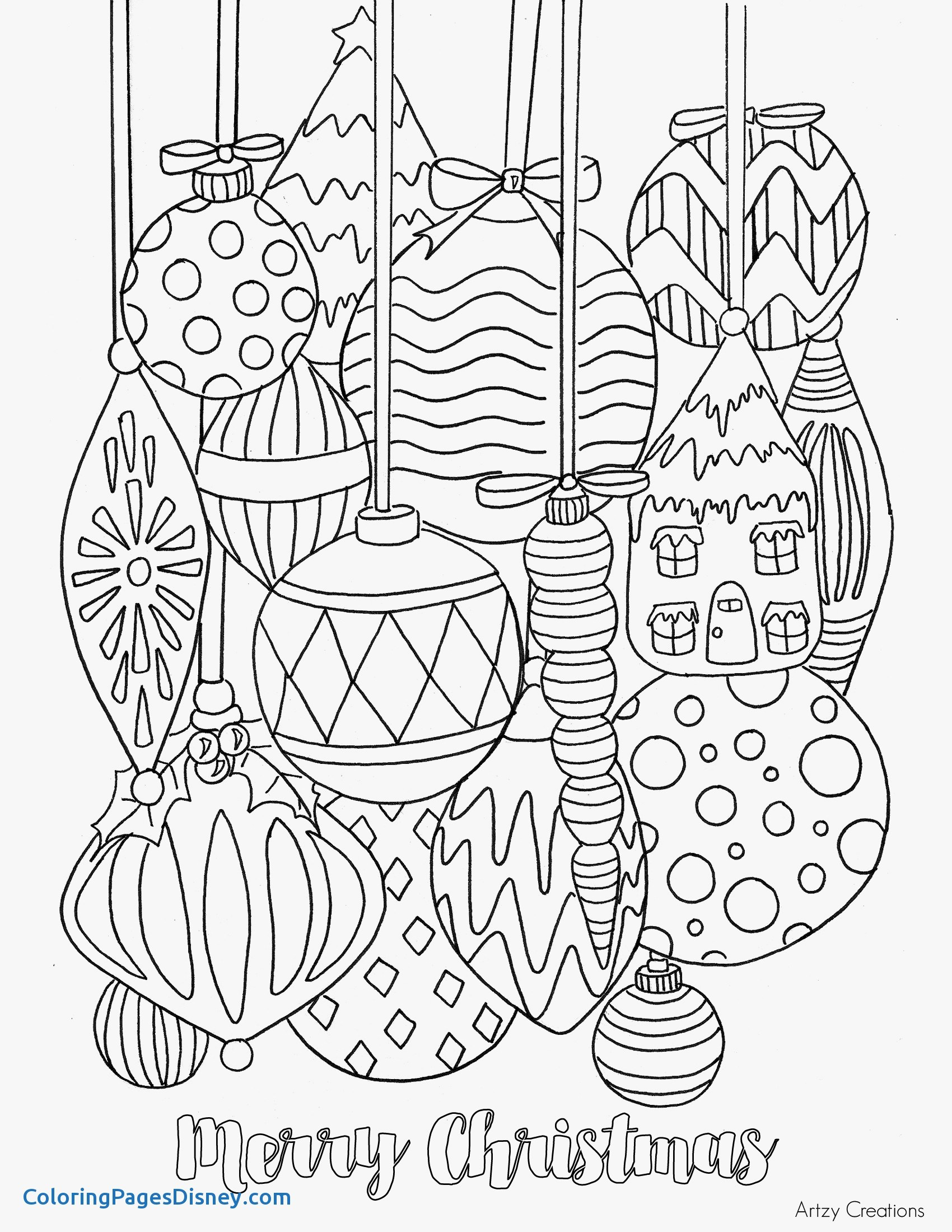 1700x2200 Jackfruit Coloring Pages Elegant Free Christmas Ornament Coloring