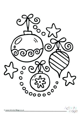 320x453 Christmas Ornament Coloring Sheets