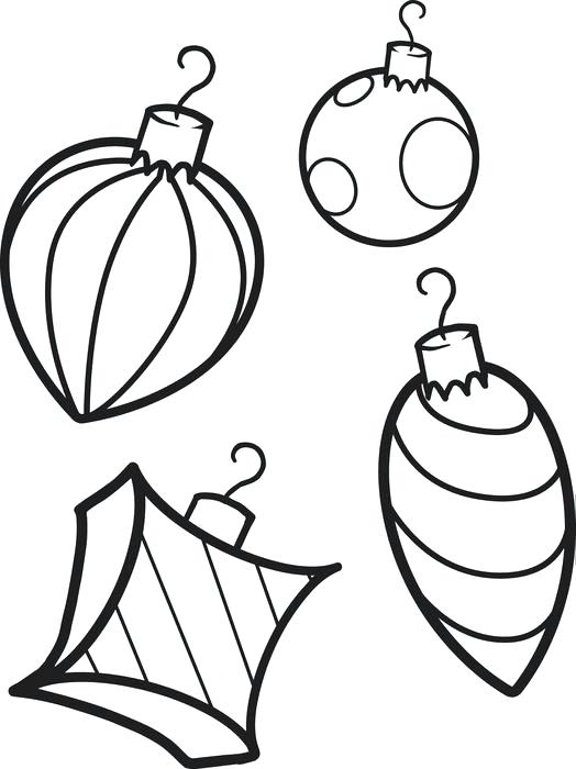 524x700 Christmas Ornaments Coloring Pages