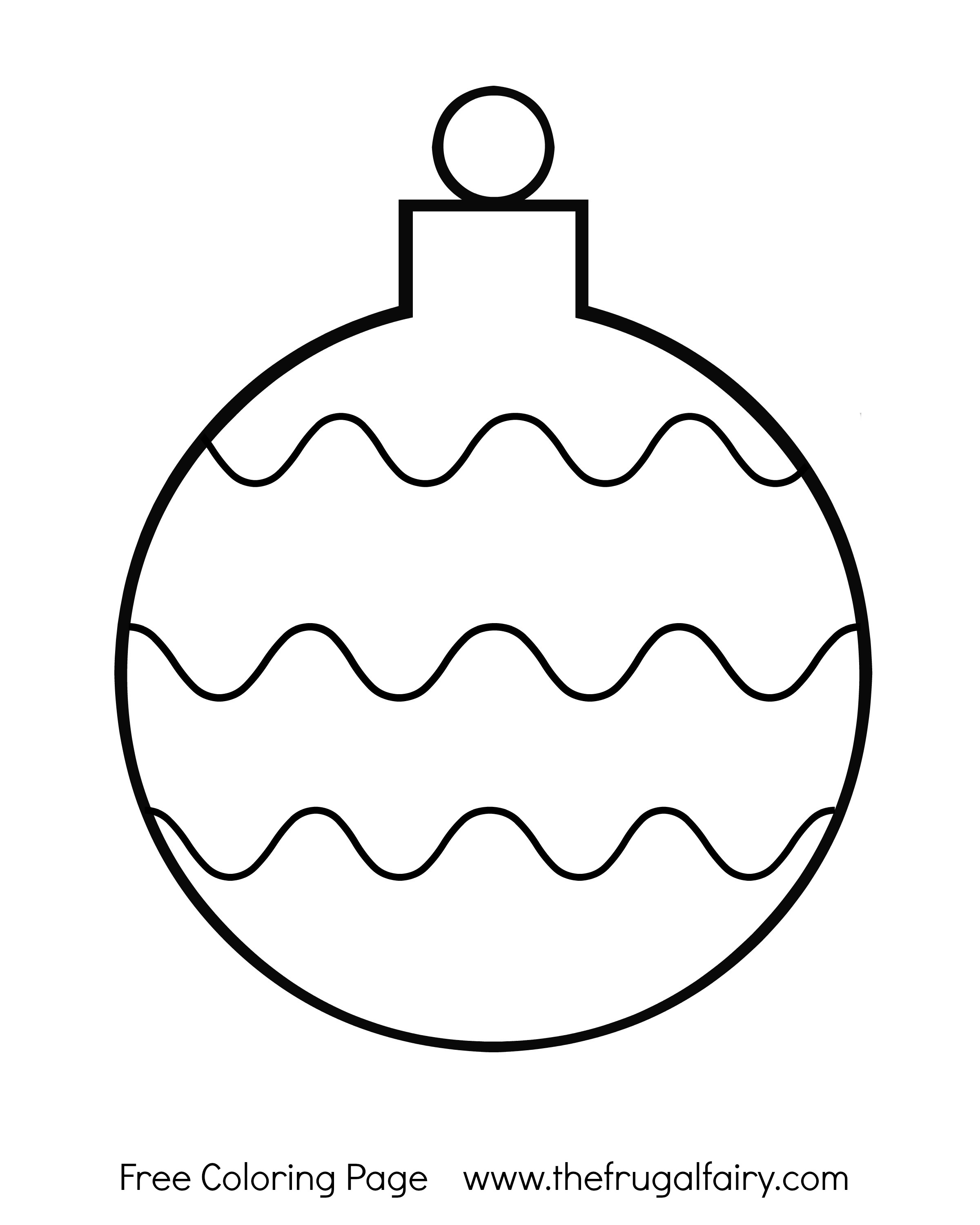 2400x3000 Christmas Ornament Coloring Page