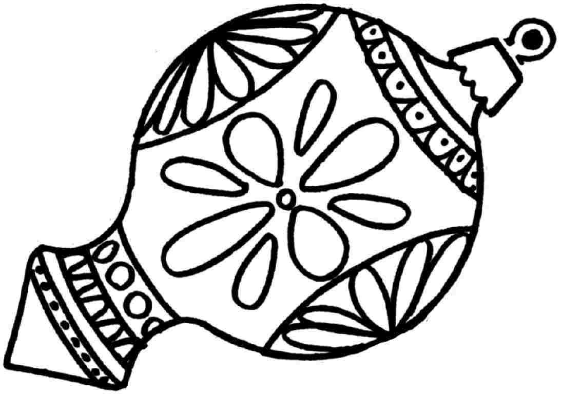 1093x770 Christmas Ornament Coloring Pages Collection Free For Alluring