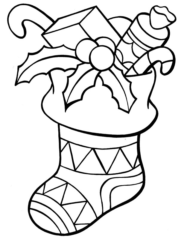 625x800 Christmas Stocking Coloring Pages