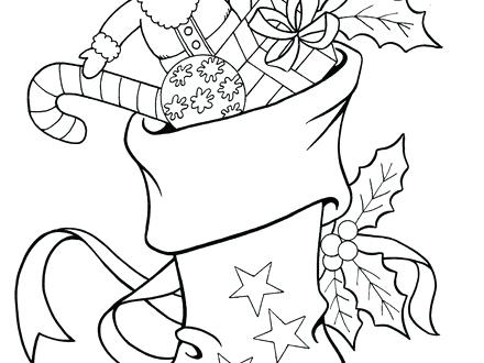 440x330 Christmas Stocking Coloring Pages Pattern Stocking Coloring Stripe